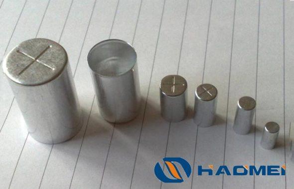 aluminum slugs for capacitor shell
